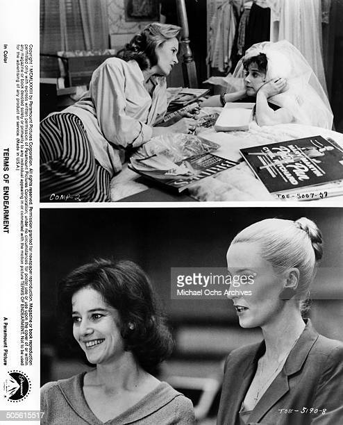 Lisa Hart Carroll listens to Debra Winger in scenes from the Paramount Pictures movie'Terms of Endearment' circa 1983