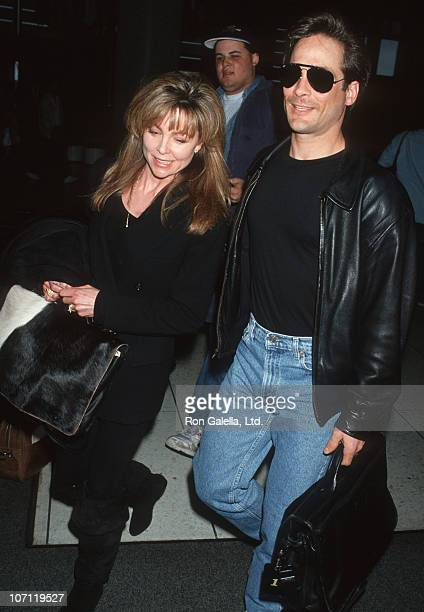 Lisa Hartman and Clint Black during Clint Black and Lisa Hartman Sighting at Los Angeles International Airport March 24 1993 at Los Angeles...