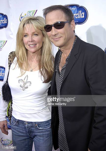 "Lisa Hartman and Clint Black during Swiffer Wetjet Presents the ""Cinderella"" DVD Release and Royal Ball - Red Carpet at Ziegfeld Theatre in New York..."