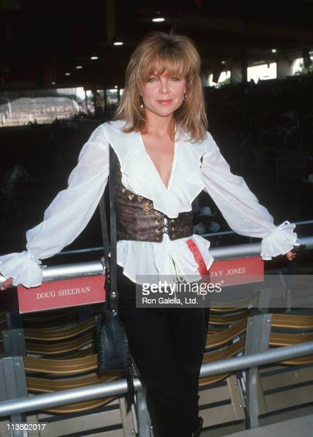 Lisa Hartman during Ben Johnson ProCelebrity Rodeo August 14 1989 at Los Angeles Equestrian Center in Los Angeles California United States