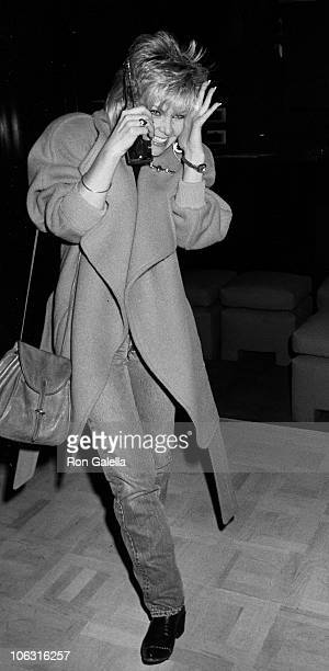 Lisa Hartman during Lisa Hartman Sighting at Pip's Club January 28 1986 at Pip's Club in Beverly Hills California United States