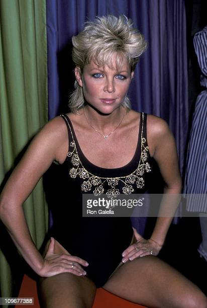 Lisa Hartman during Unveiling of The Diamond Studded Swimsuit Line August 9 1983 at California Showroom in New York City New York United States
