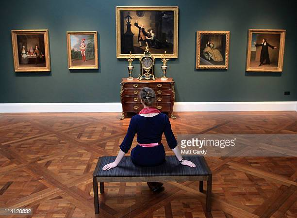 Lisa Hartung museum volunteer and trainee curator looks at paintings and artworks recently displayed at a preview of the new Holburne Museum ahead of...