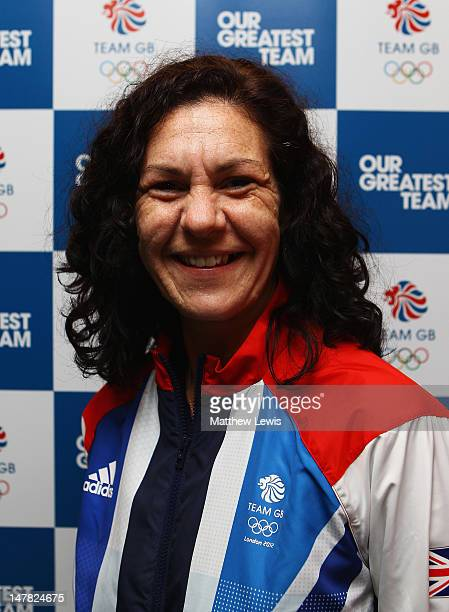 Lisa Higgins of Team GB pictured during the Team GB kitting out event ahead of the London 2012 Olympic Games at Loughborough University on July 4...