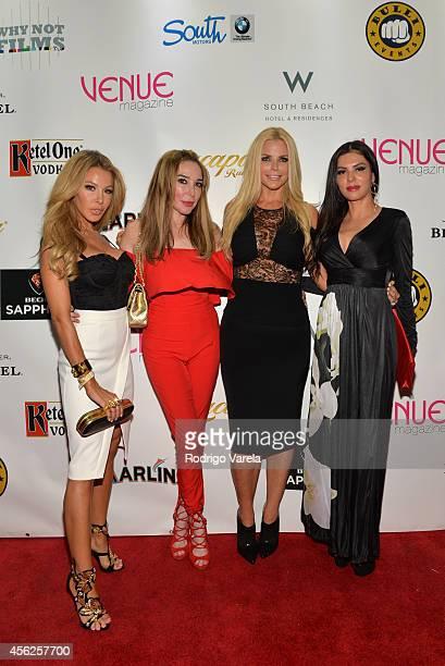 Lisa Hochstein Marysol Patton Alexia Echevarria and Adriana De Moura attend Venue Magazines 8th Anniversary Celebration at Wall at W Hotel on...