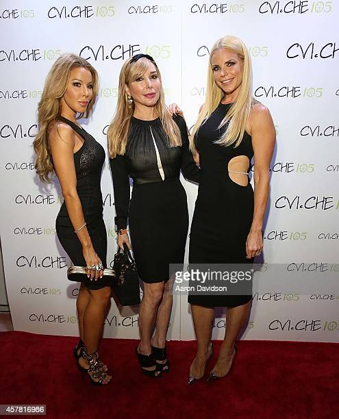 Lisa Hochstein Marysol Patton and Alexia Echevarria attend Private Opening Reception For CVICHE 105 South Beach on October 24 2014 in Miami Florida