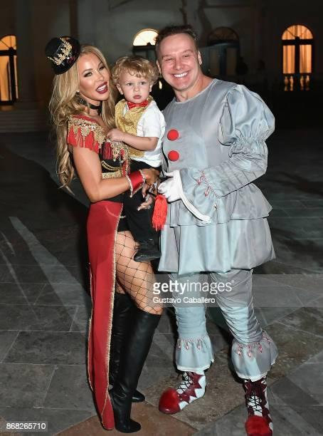 Lisa HochsteinLogan Hochstein and Leonard Hochstein attends the Hochstein's 9th Annual Halloween Ball on October 28 2017 in Miami Beach Florida