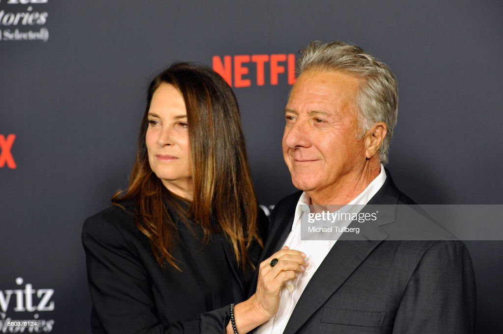 Lisa Hoffman and actor Dustin Hoffman attend a screening of Netflix's 'The Meyerowitz Stories (New and Selected)' at Directors Guild Of America on October 11, 2017 in Los Angeles, California.