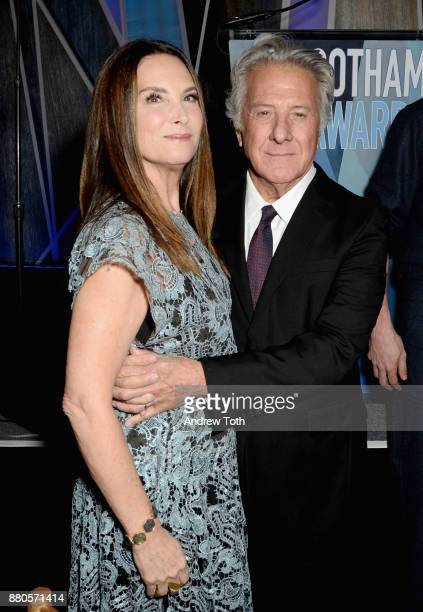 Lisa Hoffman and Dustin Hoffman attend The 2017 IFP Gotham Awards with Lindt Chocolate on November 27 2017 in New York City