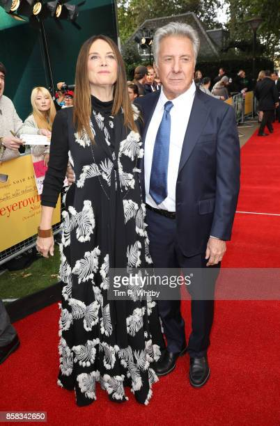 Lisa Hoffman and Dustin Hoffman attend the Laugh Gala and UK Premiere of 'The Meyerowitz Stories' during the 61st BFI London Film Festival on October...