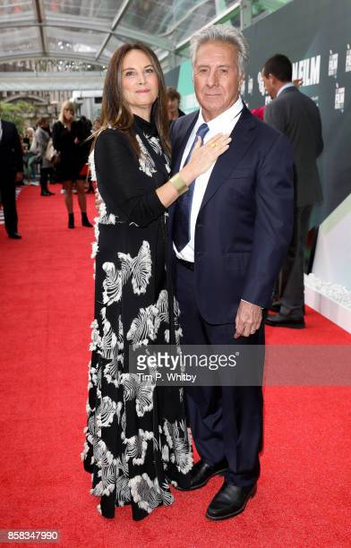 Lisa Hoffman and Dustin Hoffman attend the Laugh Gala and UK Premiere of The Meyerowitz Stories during the 61st BFI London Film Festival on October 6...