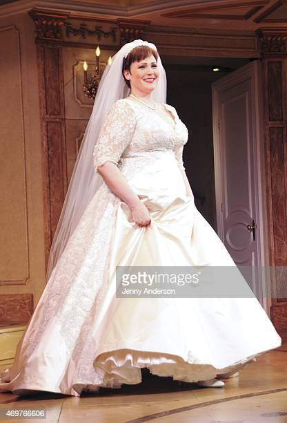 Lisa Howard during the curtain call of the Broadway opening night of It Shoulda Been You at Brooks Atkinson Theatre on April 14 2015 in New York City