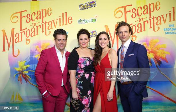 Lisa Howard Eric Petersen Alison Luff and Paul Alexander Nolan attend the Broadway Opening Night After Party for 'Escape To Margaritaville' at Pier...