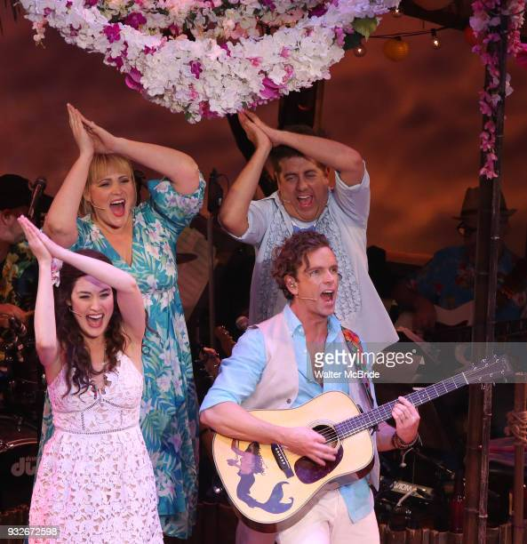 Lisa Howard Eric Peterson Alison Luff and Paul Alexander Nolan during the the Broadway Opening Night Performance Curtain Call bows of 'Escape To...