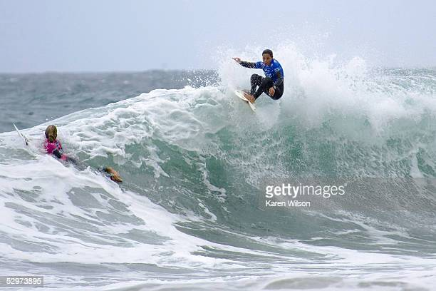 Lisa Hurinui in action during the Roxy Jam UK Presented by Samsung Association of Surfing Professionals Women's World Championship Tour event on May...