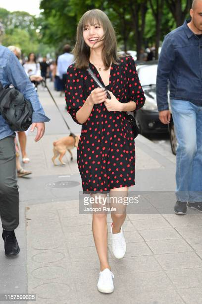 Lisa is seen leaving Celine boutique during Paris Fashion Week - Menswear Spring/Summer 2020 on June 22, 2019 in Paris, France.