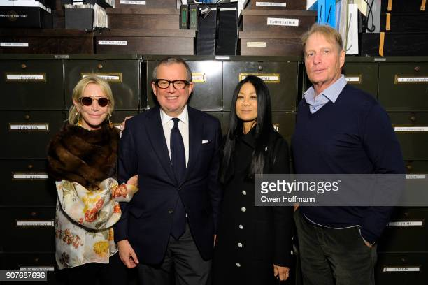 Lisa Jackson Alex Papachristidis Helen Lee Schifter and Donald Jackson attend Richard Mishaan Design 25th Anniversary Party at Richard Mishaan Design...