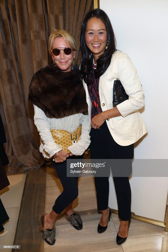 Lisa Jackson and Katherine Kwei attend Saks Fifth Avenue Luncheon to Benefit City Harvest at Saks Fifth Avenue on October 12, 2017 in New York City.