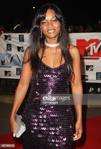 Lisa James arrives for the MTV Africa Music Awards 2008 at the Abuja Velodrome on November 22, 2008 in Abuja, Nigeria.