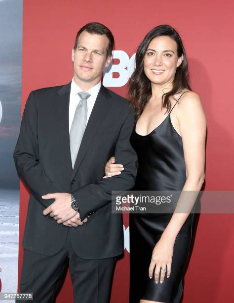 Lisa Joy and Jonathan Nolan arrive at the Los Angeles premiere of HBO's Westworld season 2 held at The Cinerama Dome on April 16 2018 in Los Angeles...