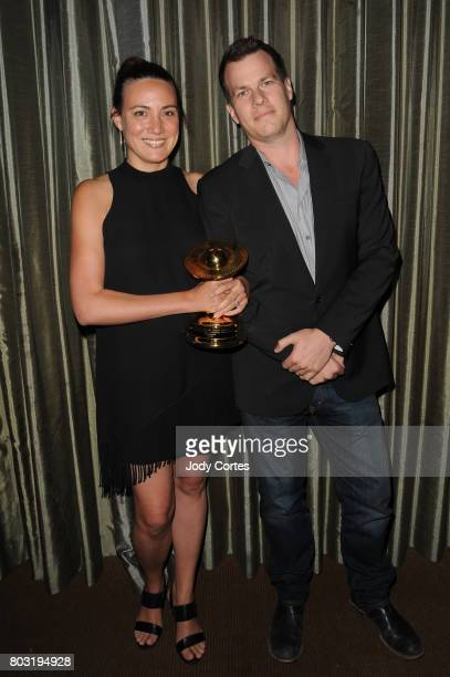 Lisa Joy and Jonathan Nolan attend the 43rd Annual Saturn Awards at The Castaway on June 28 2017 in Burbank California