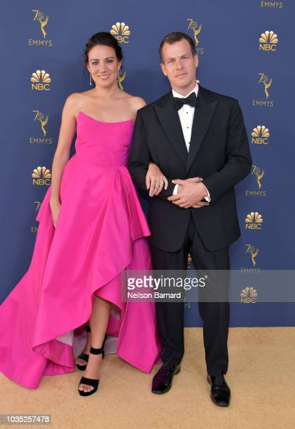 Lisa Joy and Jonathan Nolan attend the 70th Emmy Awards at Microsoft Theater on September 17 2018 in Los Angeles California