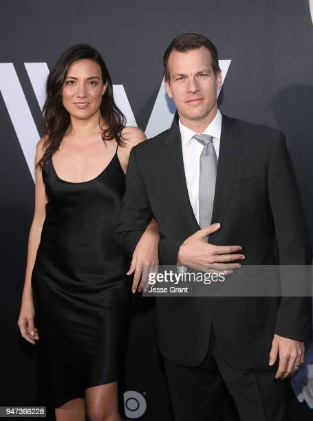 Lisa Joy and Jonathan Nolan attend the Premiere of HBO's Westworld Season 2 at The Cinerama Dome on April 16 2018 in Los Angeles California