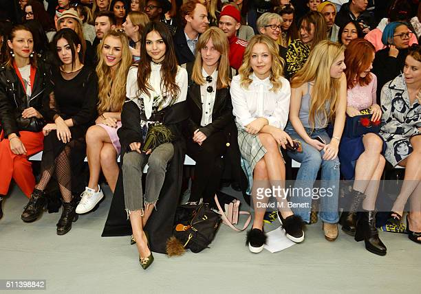Lisa Katnic Charli XCX Tallia Storm Doina Ciobanu India Rose James Poppy Jamie Anais Gallagher Angela Scanlon and Billie JD Porter attend the SIBLING...