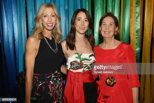 Lisa Kaufman Stacey Bronfman and Pam Pantzer attend AFIM Celebracion at Cipriani 42nd Street on October 2 2017 in New York City