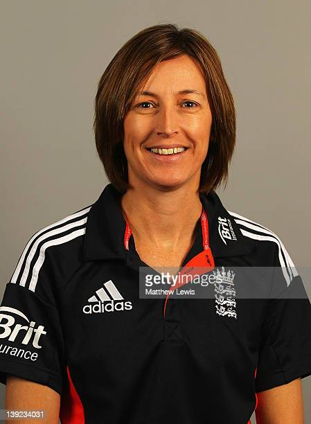 Lisa Keightley Head Coach of England poses for a portrait during an England Womens Cricket Squad Training and Portraits session at the National...