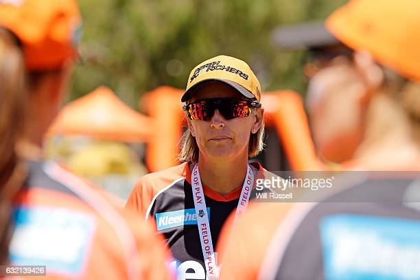 Lisa Keightley head coach of the Scorchers before the Women's Big Bash League match between the Perth Scorcher and the Sydney Thunder at Lilac Hill...