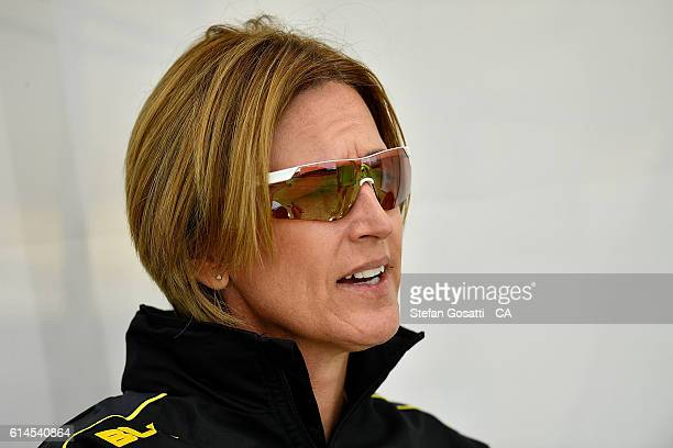 Lisa Keightly coach of Western Australia watches on during the WNCL match between Western Australia and the ACT at WACA on October 14 2016 in Perth...