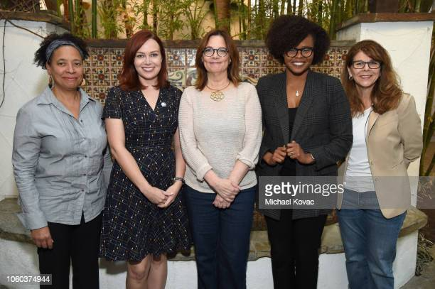 Lisa Kennedy Alicia Malone Ann Hornaday Jacqueline Coley and Dr Stacy L Smith attend the 'Who Says Underrepresented Voices In Film Criticism' panel...