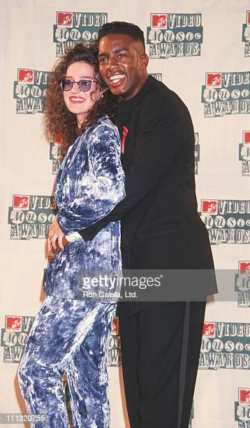 Lisa Kennedy Montgomery and Bill Bellamy during 1994 MTV Video Music Awards in New York City New York United States
