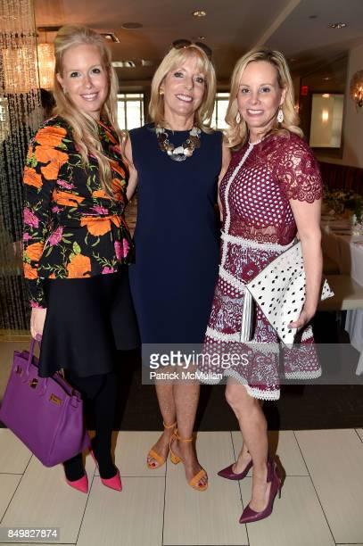 Lisa Klein Liz Peek and Yaz Hernandez attend Audrey Gruss Marc Metrick Host hope Fragrance Luncheon at Cafe SFA Saks Fifth Avenue on September 19...