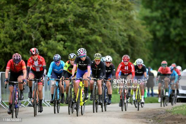 Lisa Klein of Germany and Team Canyon SRAM Racing / Amalie Dideriksen of Denmark and Team Boels Dolmans / Chloe Hosking of Australia and Team Ale...