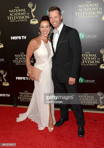 Lisa Kouchak and Eric Martsolf attend The 41st Annual Daytime Emmy Awards at The Beverly Hilton Hotel on June 22 2014 in Beverly Hills California