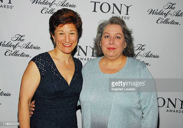 Lisa Kron and Jayne Houdyshell during 60th Annual Tony Awards Cocktail Celebration at The Waldorf Astoria in New York City New York United States