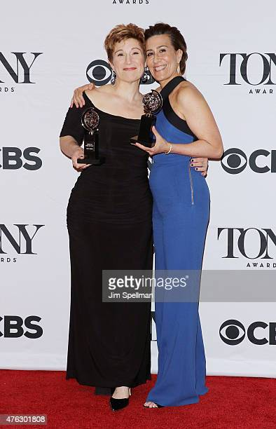 Lisa Kron and Jeanine Tesori attend American Theatre Wing's 69th Annual Tony Awards at Radio City Music Hall on June 7 2015 in New York City
