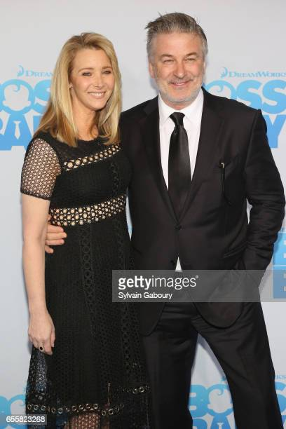 Lisa Kudrow and Alec Baldwin attend 'The Boss Baby' New York Premiere on March 20 2017 in New York City