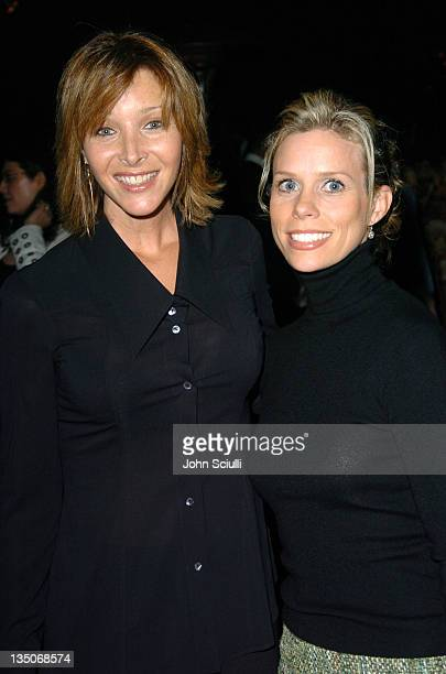 Lisa Kudrow and Cheryl Hines during PS Arts Kick Off Reception for the Seventh Annual 'Express Yourself' Charity Benefit at Private Residence in Los...