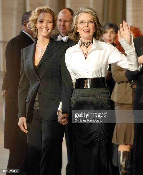 Lisa Kudrow and Diane Keaton during Film Society of Lincoln Center's 34th Annual Gala Tribute to Diane Keaton Arrivals at Avery Fisher Hall Lincoln...