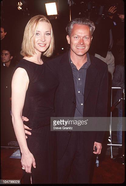 """Lisa Kudrow and husband Michel Stern during """"Analyze This"""" Premiere at Mann Village Theatre in Westwood, California, United States."""