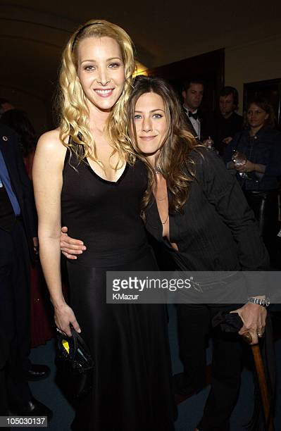 Lisa Kudrow and Jennifer Aniston during The 29th Annual People's Choice Awards Backstage and Audience at Pasadena Civic Auditorium in Pasadena...