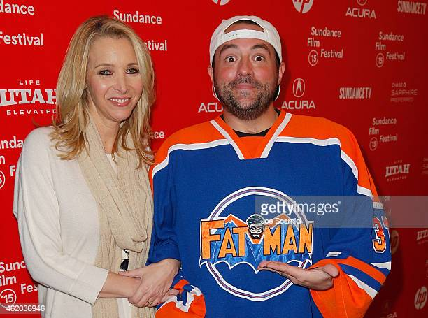 Lisa Kudrow and Kevin Smith attend the 'Misery Loves Comedy' Premiere at the Egyptian Theatre during the 2015 Sundance Film Festival on January 23...