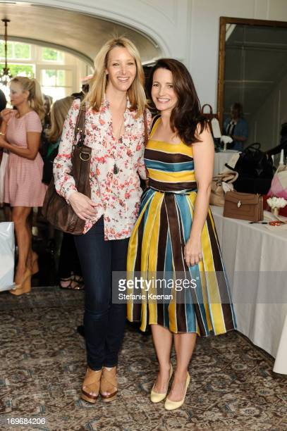 Lisa Kudrow and Kristin Davis attend PS ARTS Bag Lunch at Private Residence on May 30 2013 in Los Angeles California
