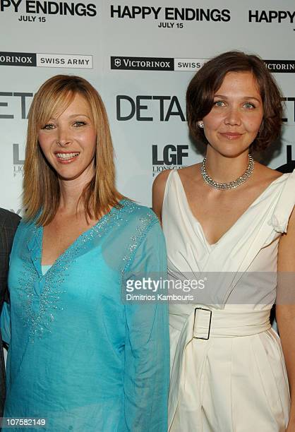 Lisa Kudrow and Maggie Gyllenhaal during 'Happy Endings' New York City Premiere Inside Arrivals at Chelsea Clearview in New York City New York