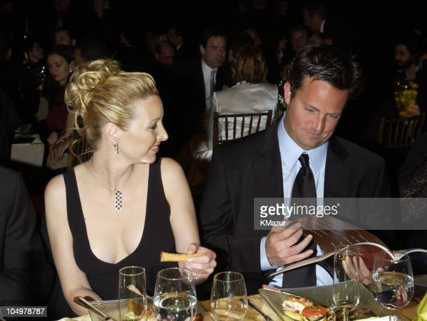 Lisa Kudrow and Matthew Perry during The 8th Annual Screen Actors Guild Awards Audience at Shrine Auditorium in Los Angeles California United States
