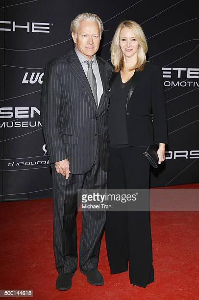 Lisa Kudrow and Michel Stern arrive at the Petersen Automotive Museum grand reopening gala held on December 5 2015 in Los Angeles California