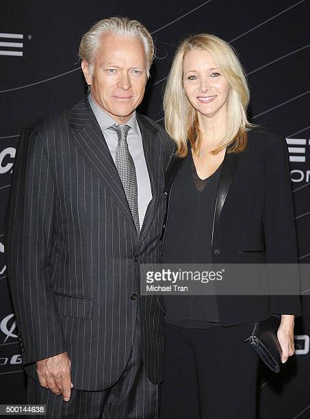 Lisa Kudrow and Michel Stern arrive at the Petersen Automotive Museum grand re-opening gala held on December 5, 2015 in Los Angeles, California.